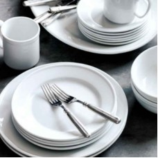 Cafe Dishes and Silverware