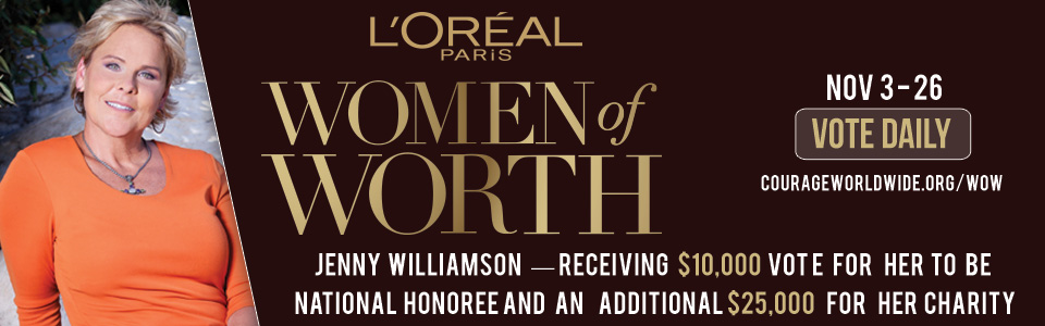 L'oreal Women of Worth Honoree Jenny Williamson