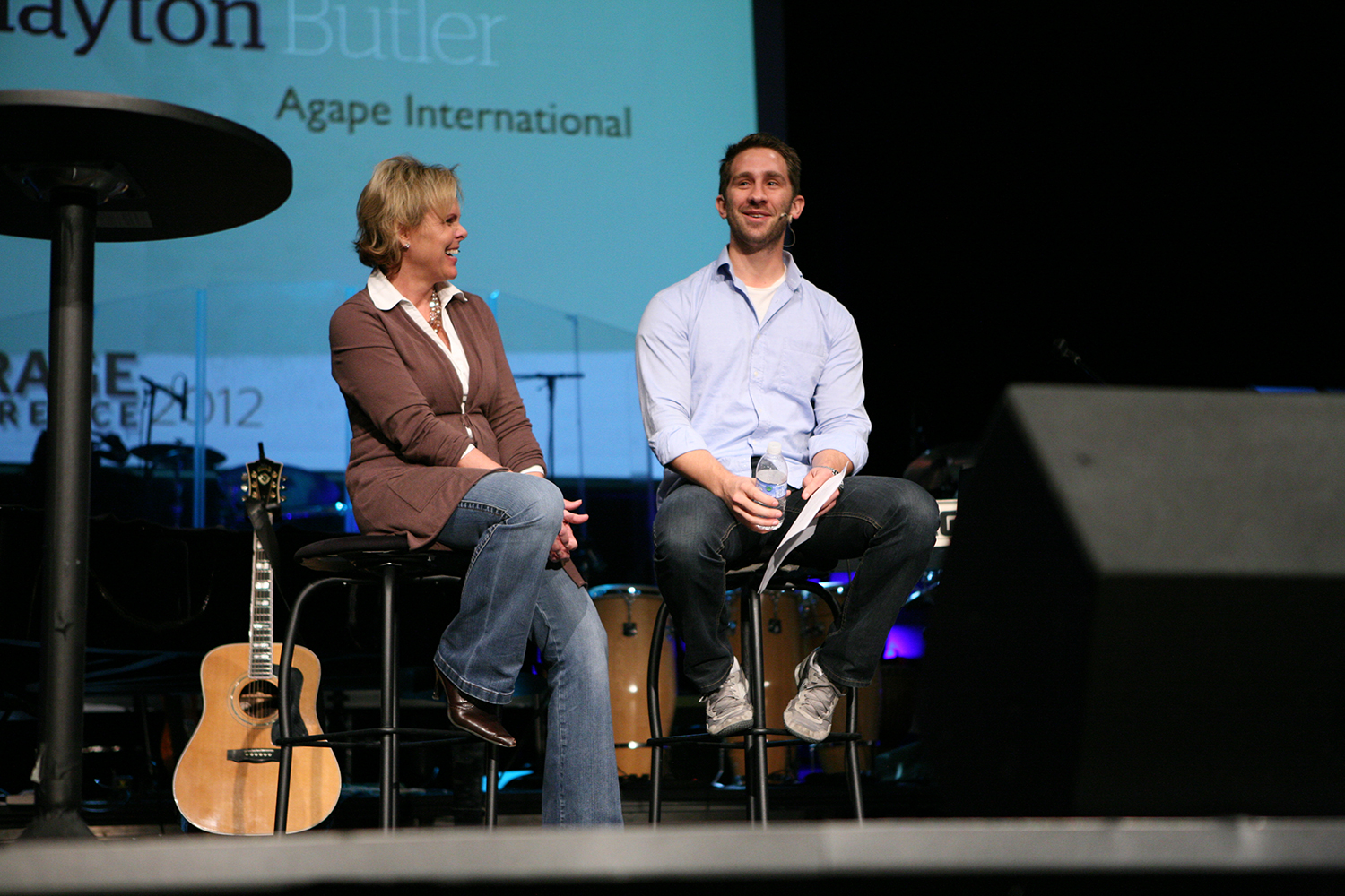 Jenny Williamson, CEO/Founder of Courage Worldwide; Clayton Butler, Agape International